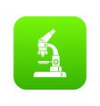 microscope icon digital green vector image vector image