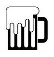 mug beer glass drink traditional vector image vector image