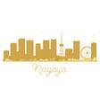 Nagoya City skyline golden silhouette vector image vector image