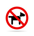 no dogs icon vector image