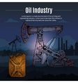 Oil Industry Drawn Background vector image