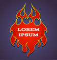 old school red flame background element vector image vector image