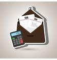 portfolio tax calculator pay vector image