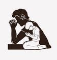 prayer christian praying praise god vector image vector image