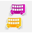 realistic design element bus double decker vector image vector image