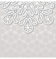 Realistic lace background vector image vector image