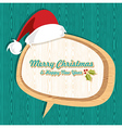 Retro wooden Christmas sale set vector image