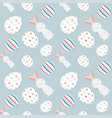 seamless easter egg pattern vector image vector image