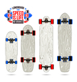 Set of blanks variety form longboards vector image vector image