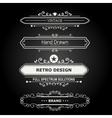 Set of Vintage Decorations Elements vector image
