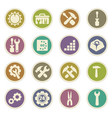setting icons set vector image vector image