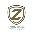 shield letter z concept design symbol graphic vector image