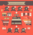 shopping infographics vector image