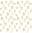 Simple beer mug seamless pattern with elements for vector image