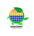 solar energy for green life vector image vector image