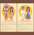 south and north america people culture and customs vector image