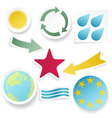 sticky collection abstract shapes vector image