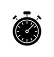 stopwatch - timer icon black vector image vector image
