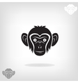Stylized head of a monkey vector image