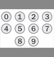 typewriter keys numbers vector image