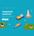 water freight transport logistics vector image vector image
