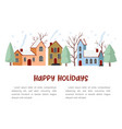 winter houses collection vector image vector image