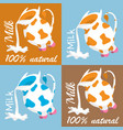 a jug of milk on a homogeneous background vector image