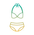 bikini swimsuit fashion clothes accessory icon vector image