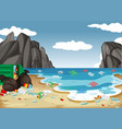 a dirty beach pollution background vector image vector image