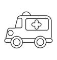 ambulance emergency toy icon vector image vector image