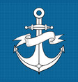 anchor hand drawn sketch on vector image vector image
