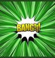 bang comic wording composition vector image vector image