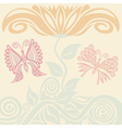 Beautiful flower and butterflies vector image vector image