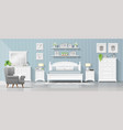 bedroom in modern country style background vector image vector image