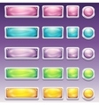 big set buttons in glamorous white frame vector image vector image