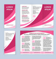 blank trifold paper leaflet vector image