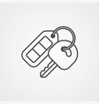 car key icon sign symbol vector image