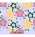 Card with floral decoration and place for text vector image