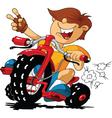 cartoon rider vector image