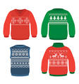 Christmas pattern sweaters vector image vector image