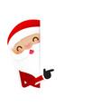 christmas santa claus cartoon smile 003 vector image vector image