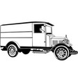 classic car wagon drawing graphic vector image vector image