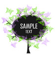 colorful tree with lace butterflies vector image vector image