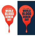 concept design world blood donor day vector image vector image