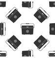 cooler bag isolated icon seamless pattern vector image vector image
