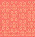 coral and yellow baroque style damask pattern vector image