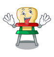 crazy baby highchair isolated on the mascot