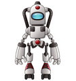 cute cartoon robot isolated on a white background vector image
