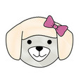 cute dog breed head character vector image vector image