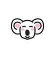 cute koala bear head icon vector image